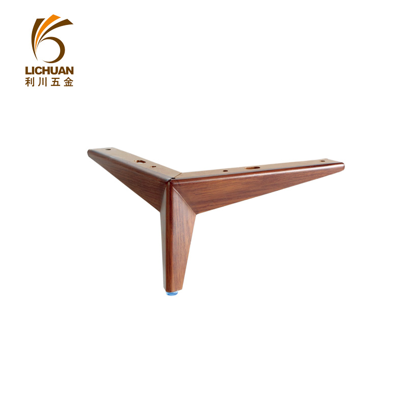 Wood grain Y shape 3 star metal sofa table legs for furniture fittings 14023285