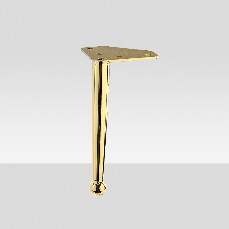 circular cone titanium 200mm I type gold sofa bed chair cabinet iron leg for furniture fittings